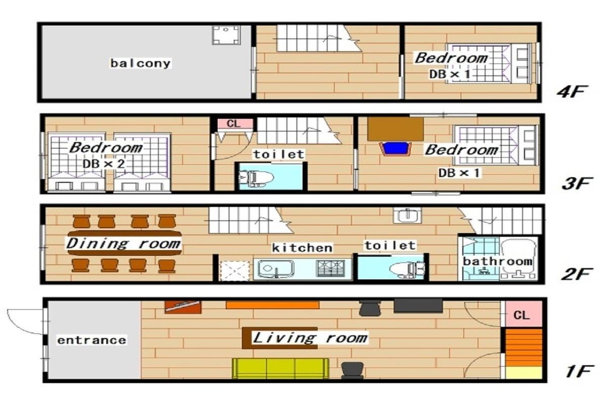 【一軒家貸切】心斎橋隣 地下鉄松屋町駅から徒歩5分  Wi-Fi完備 の写真