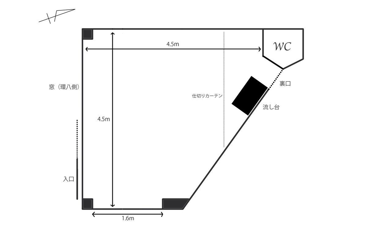 優しい自然光・白壁・コンクリ床・天井高3.4m・フォトスタジオ・駅から徒歩1分 の写真