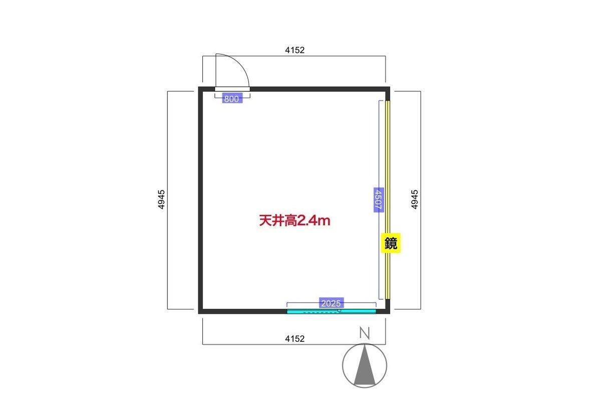 【関内駅2分】ダンス・撮影にオススメのキレイなスタジオ!大型鏡、WIFI、スピーカー、プロジェクター の写真