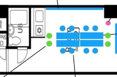 桜木町駅出口から徒歩5秒!会議、セミナー、ボードゲーム、などで利用可能!WIFI(光回線)、プロジェクター等無料! の写真