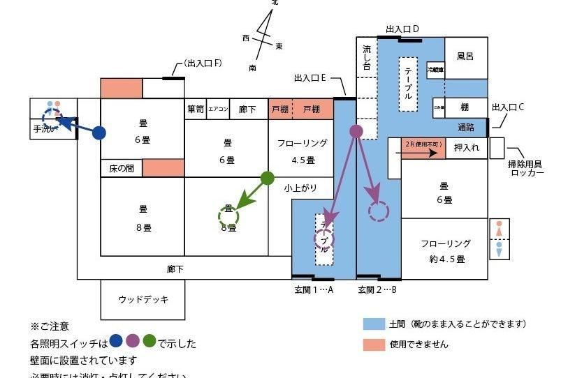 千琉々「善蔵」のどかな郊外の環境をお探しの方へ 昭和の造りの住宅の広い空間を自由にお使いください の写真