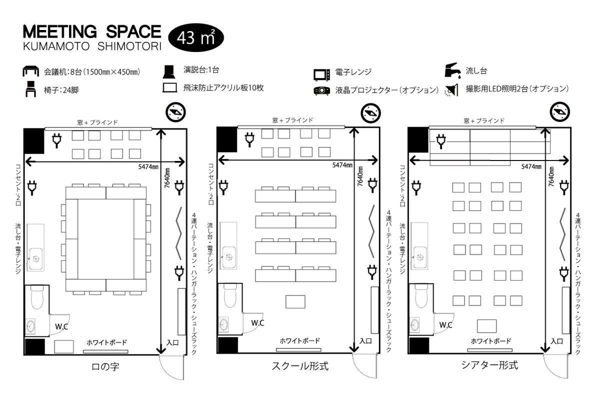 【飛沫防止用アクリルボード設置】辛島町駅、桜町バスセンターから徒歩6分の交通便利な貸会議室。 の写真