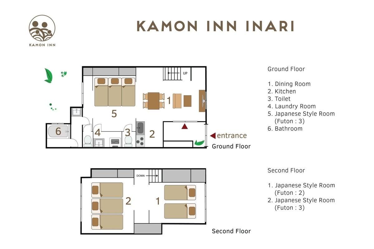 京都/伏見 Kamon Inn 稲荷-1棟貸切り- #毎回清掃 #キッチン/お布団/お風呂完備 #Wi-Fi有 #お家パーティ の写真