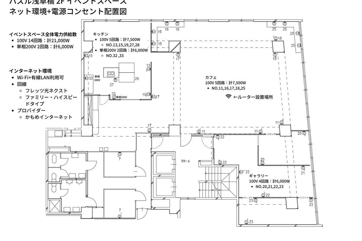 【十分な換気OK】キッチン付きイベントスペース 展示/控室付き【秋葉原・浅草橋】 全205㎡ の写真