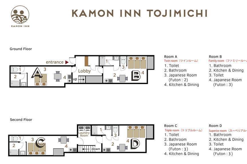 【銭湯チケット付】京都/Kamon Inn 東寺道-D room-/個室/毎回清掃/キッチン・布団・お風呂完備/Wi-Fi有 の写真