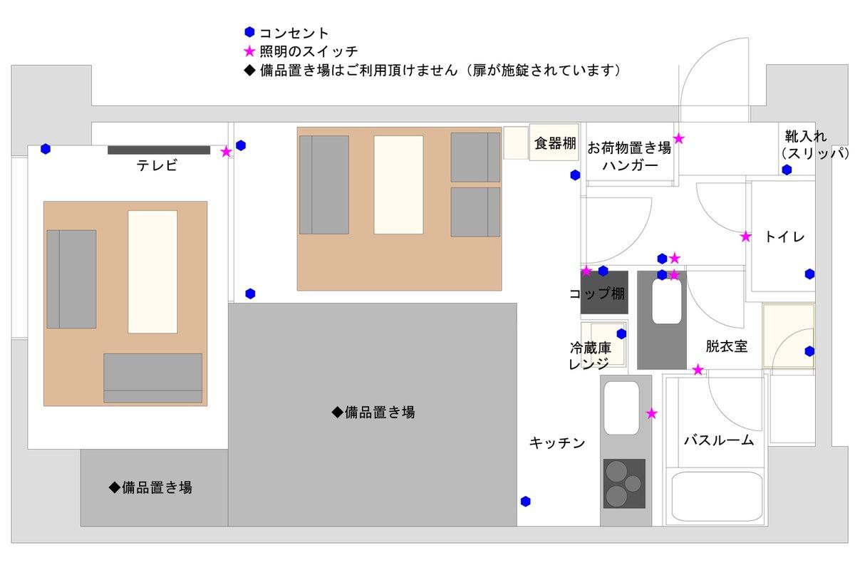 【1LDK横浜 702】横浜駅徒歩7分!お家デート・パーティー・女子会・誕生日に。毎日清掃。商用利用可能、キッチン&お風呂付き! の写真