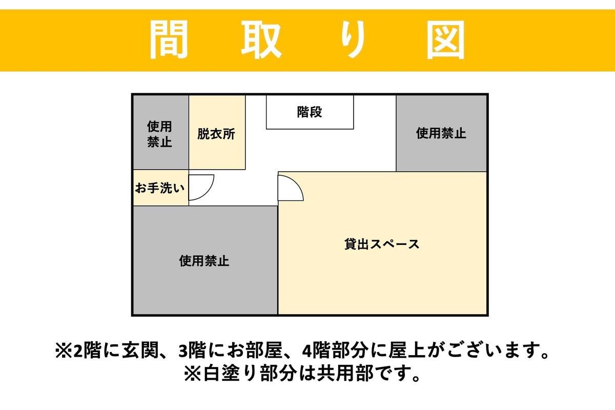 <マルチスペース江ノ島>1室+屋上貸切⭐️ヨガマットあり!グリーンバックあり!Wi-Fi完備/65型テレビ/ヨガ/撮影/会議 の写真