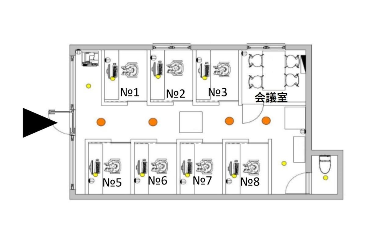 2号室OPEN!【仕事が捗る空間づくり】十日市交差点徒歩3分■完全個室■コワーキング■仕事/勉強/テレワーク■Wi-Fi の写真