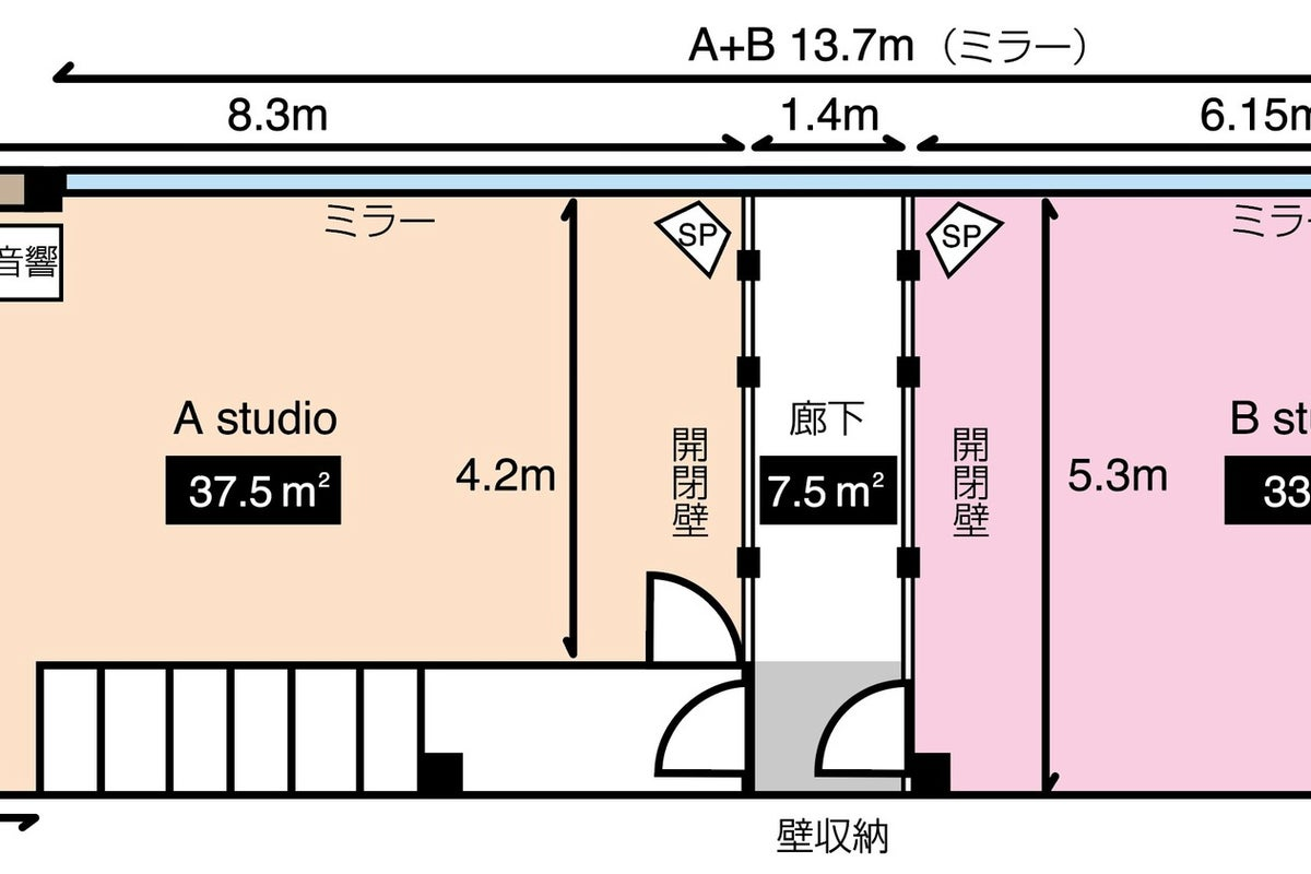 【大須観音駅徒歩3分!!】ダンスができるキレイで天井高な一戸建てスペース!便利な24時間営業! の写真