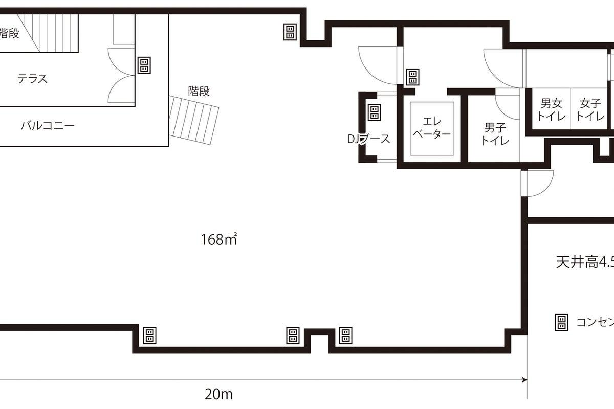 栄テレビ塔から徒歩5分の好立地200㎡天井高4.5m多目的貸しホール の写真