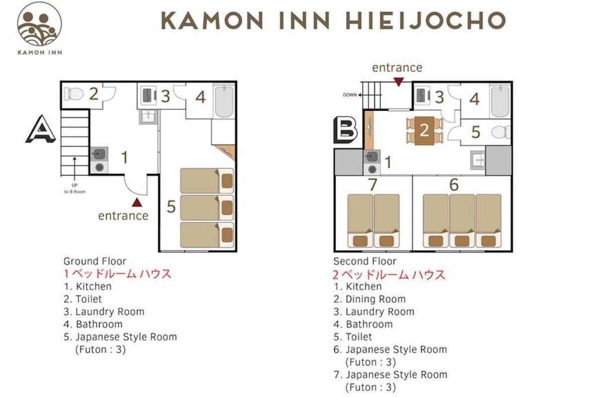 分散型民泊 Kamon Inn 比永城町【room A】-京都の世界遺産へアクセス抜群/個室/和モダン宿/駅チカ- の写真