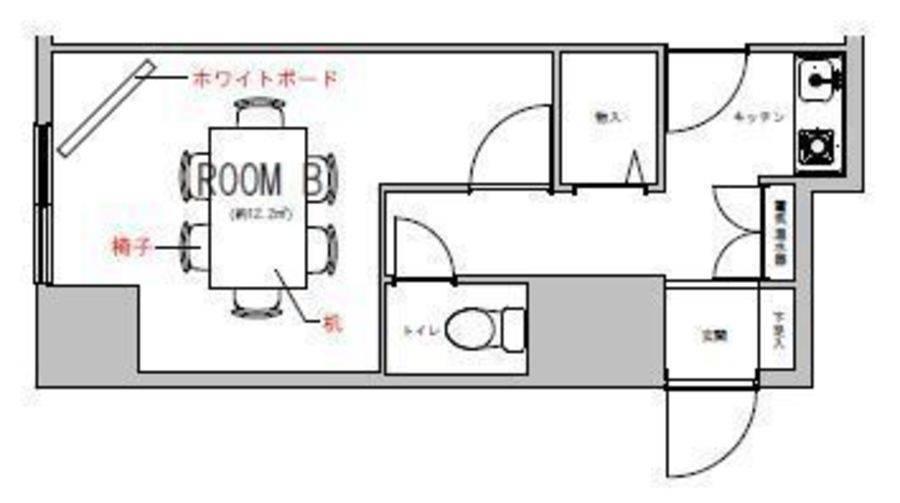 Wi-Fi・ホワイトボード無料!!1時間250円~貸し会議室Bルーム の写真
