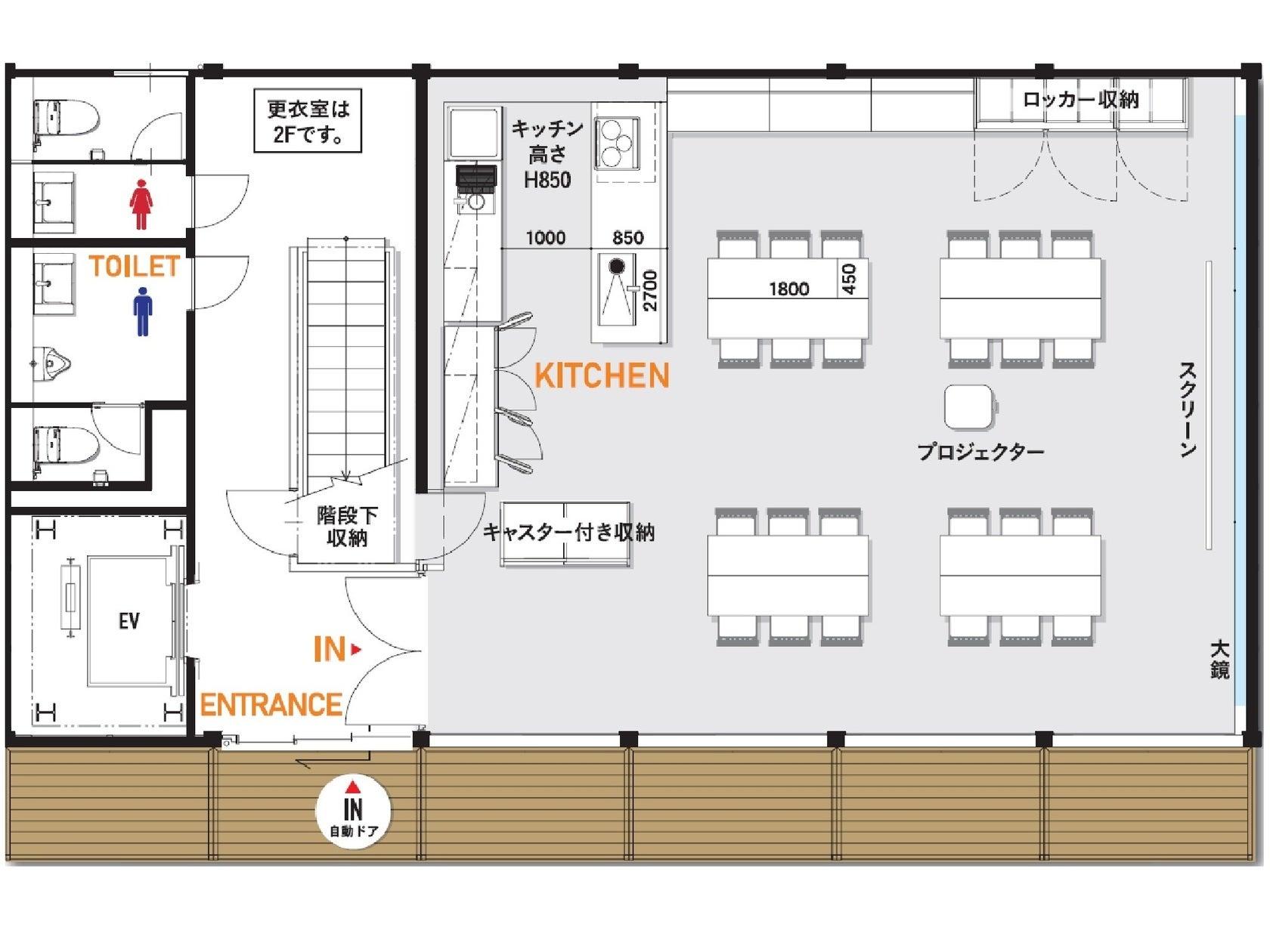 名古屋市千種区レンタルキッチンスペース。料理教室・ヨガ教室などに! の写真
