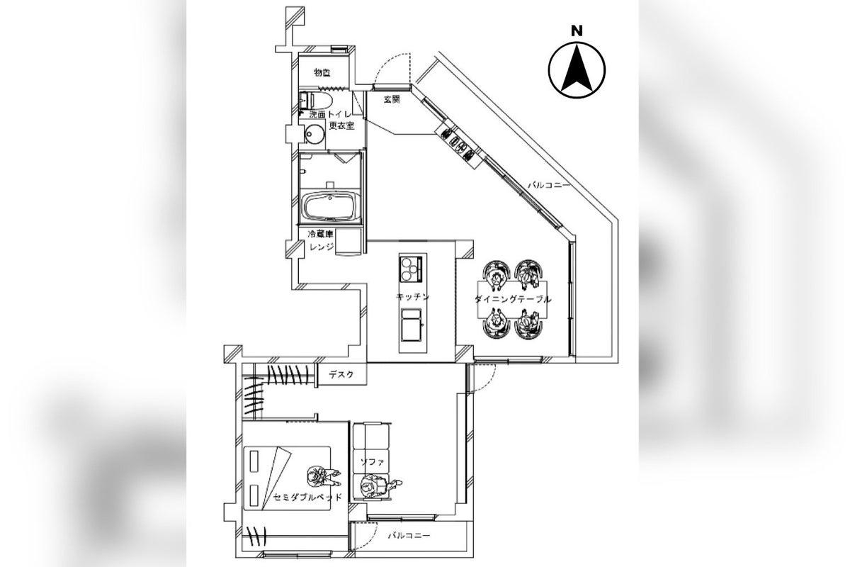 【神戸東灘】採光抜群、オリジナルキッチンのあるハウススタジオ の写真