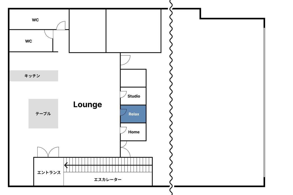 《即利用可 / 毎回清掃 / 無料Wifi&電源》個室タイプの快適ワークスペース【 Relax 】 の写真