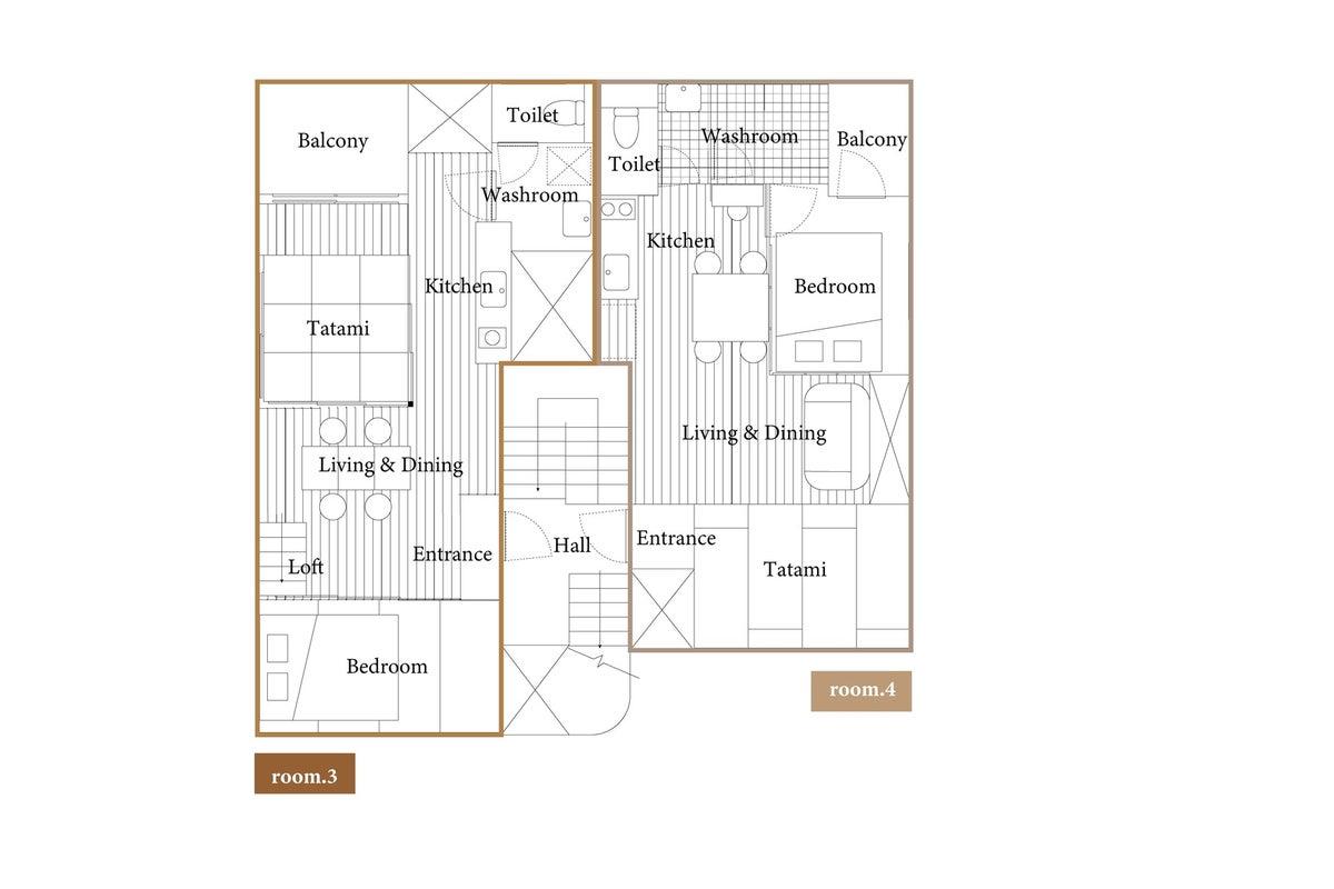 【SALE】草戸room.3 ロフトつき・畳が香るくつろぎ空間 駐車場◎自然光◎プロジェクター有 の写真