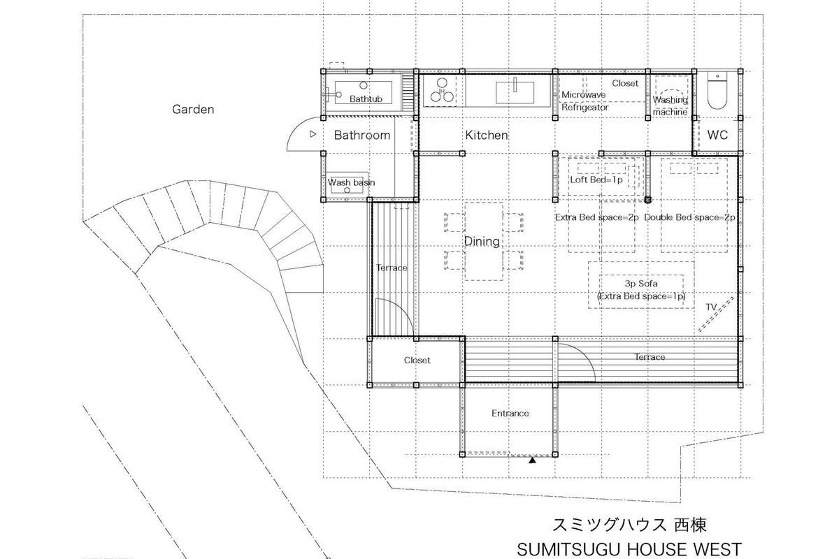 熊本城の目の前の一軒家貸切スペース!スミツグハウス西棟 の写真
