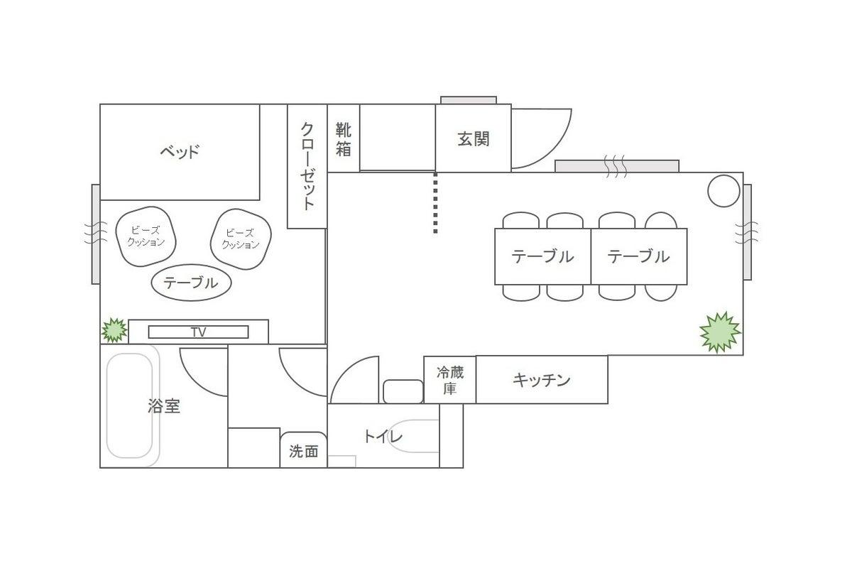 CasaBlan三軒茶屋✨広々40㎡🎉新築オープン✨しっかりキッチンで女子会🍷55型大画面でゲーム&動画視聴❗️ハウススタジオ🏠 の写真