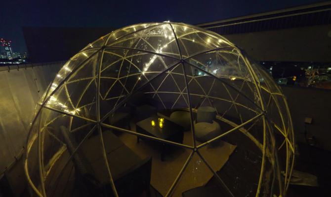 【三軒茶屋・駒沢大学】まるでプラネタリウム?屋上のドームテントでBBQも